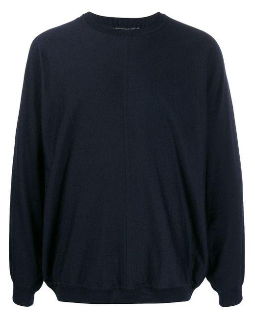 メンズ Issey Miyake リラックスフィット セーター Blue