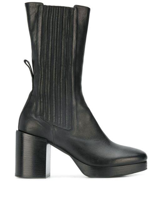 A.F.Vandevorst Black Heeled Mid-calf Boots