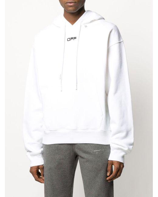Off-White c/o Virgil Abloh Hoodie Met Logo in het White voor heren