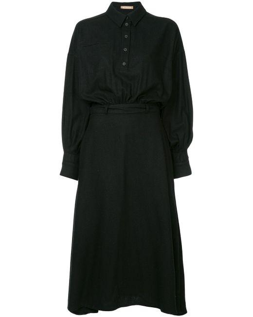 Nehera Domani シャツドレス Black