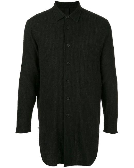 メンズ Forme D'expression ロングスリーブ シャツ Black