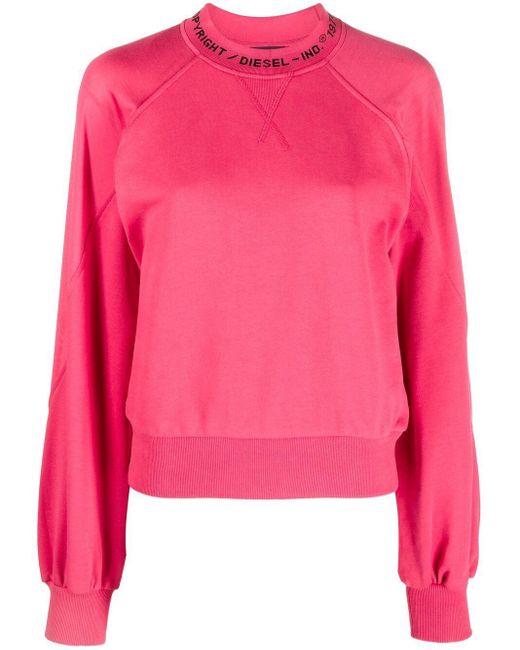 DIESEL ロゴ スウェットシャツ Pink