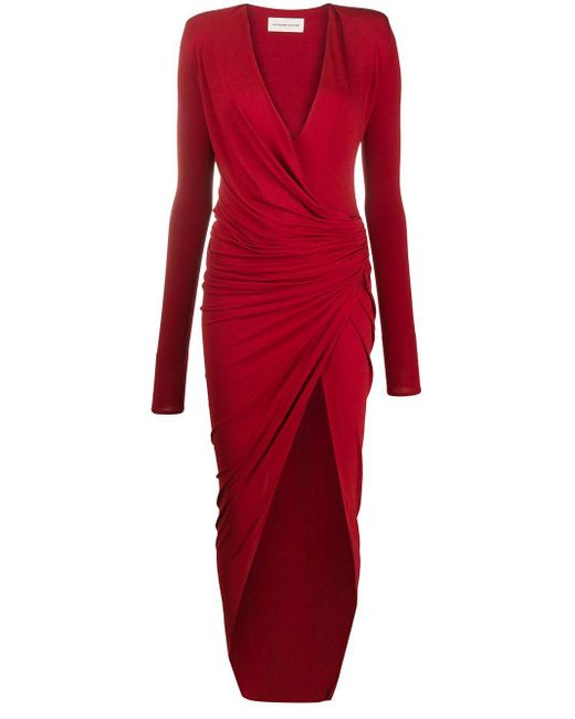 Alexandre Vauthier シャーリング ドレス Red
