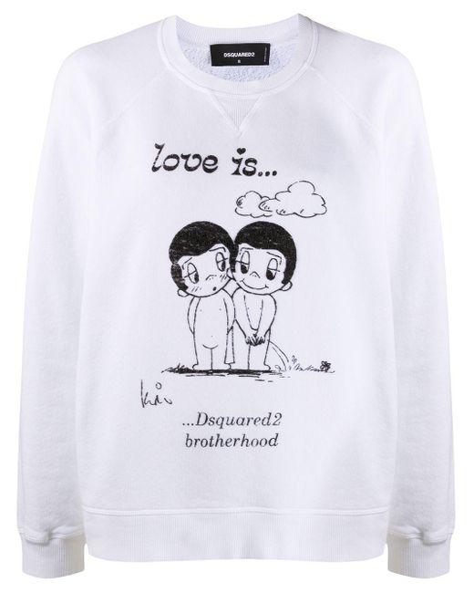 DSquared² ロゴ スウェットシャツ White