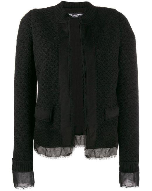 Dolce & Gabbana ブークレ ツイードジャケット Black