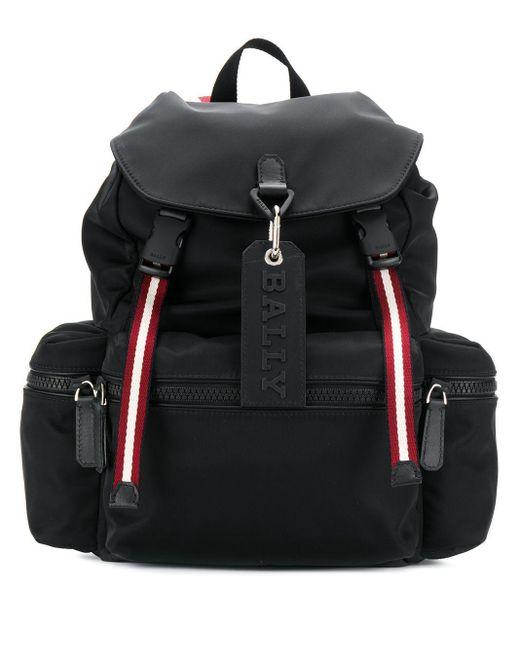 Bally Black Men's Crew Trainspotting-stripe Backpack for men