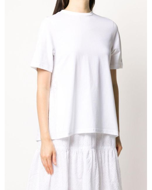 Markus Lupfer Serena アイレットレース Tシャツ White
