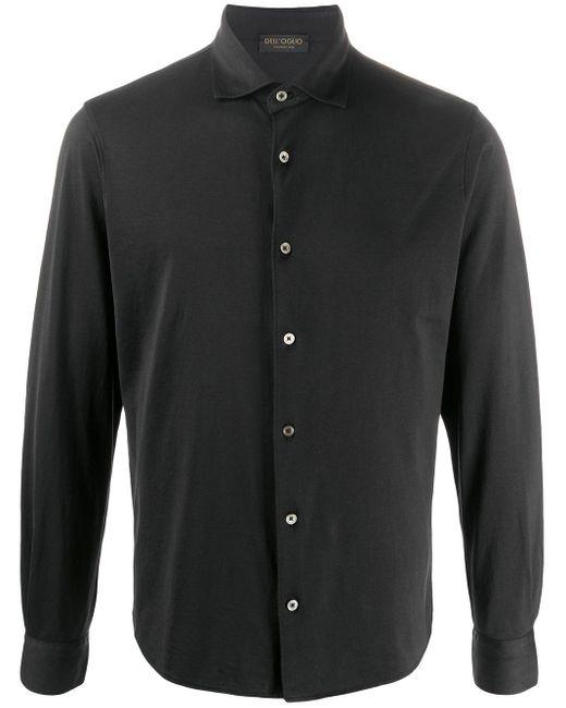 メンズ Dell'Oglio ポインテッドカラー シャツ Black