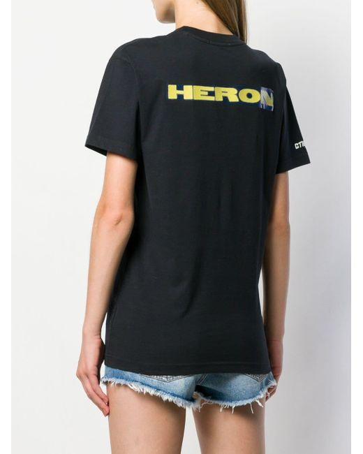 Heron Preston プリント Tシャツ Black