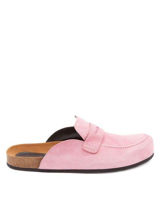 Лоферы С Открытой Пяткой J.W. Anderson, цвет: Pink