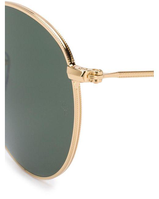Солнцезащитные Очки В Круглой Оправе Ray-Ban, цвет: Metallic