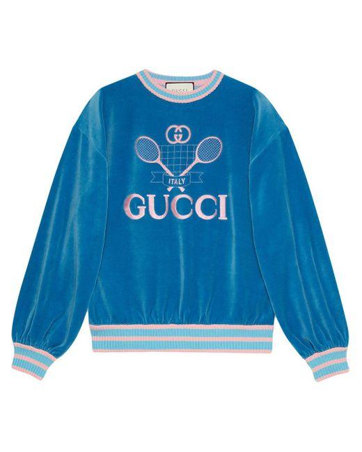 Gucci テニス スウェットシャツ Blue