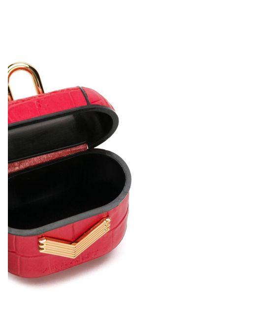 Manokhi X Velante ロゴ Airpod ケース Red