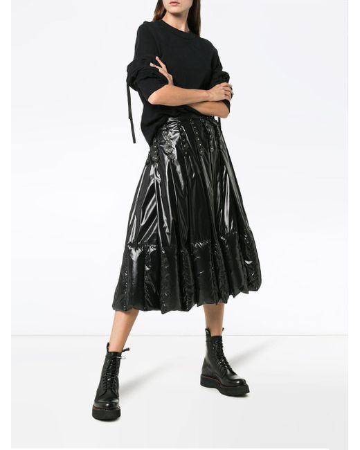 Jupe à design plissé Moncler en coloris Black