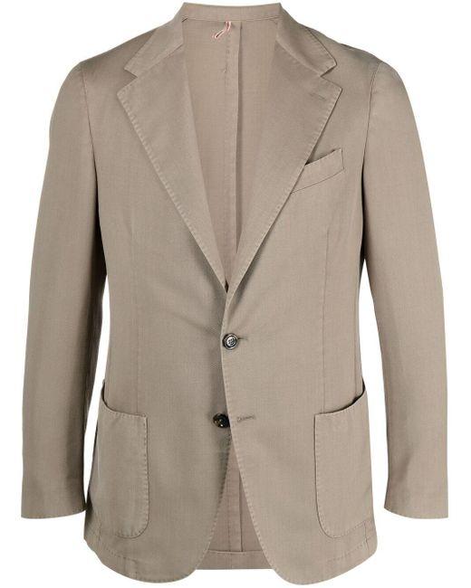 メンズ Dell'Oglio スリムフィット シングルジャケット Multicolor