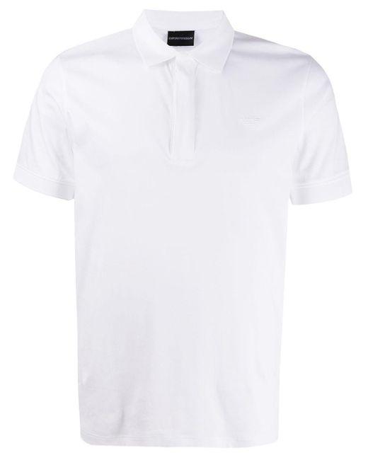 メンズ Emporio Armani ロゴ ポロシャツ White
