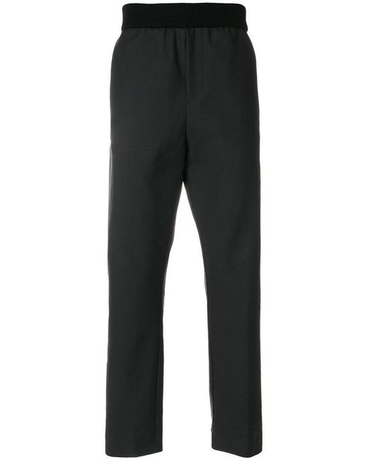 Stephan Schneider - Black Wide Leg Elasticated Trousers for Men - Lyst