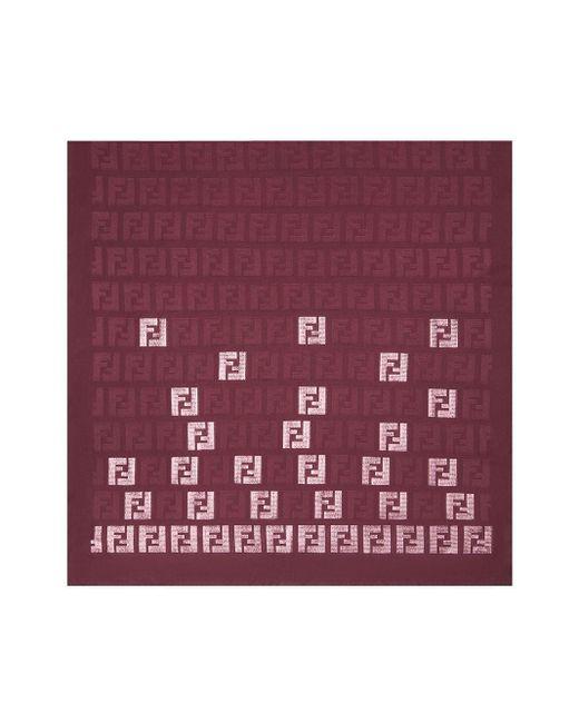 Fendi モノグラム スカーフ Red