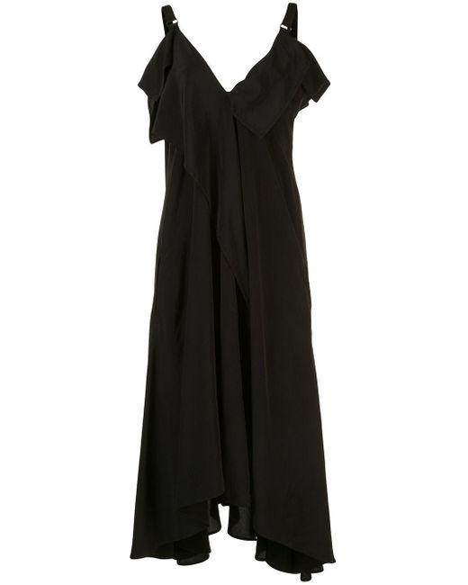 Y's Yohji Yamamoto ラッフル ドレス Black