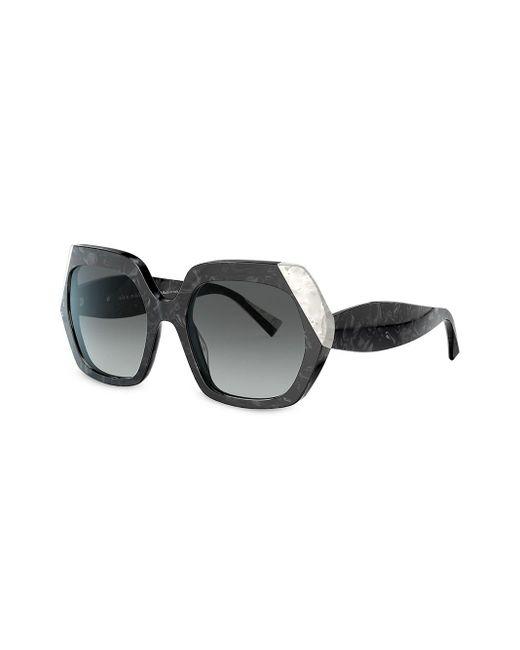 Alain Mikli Women's Black Evanne Square Acetate Sunglasses