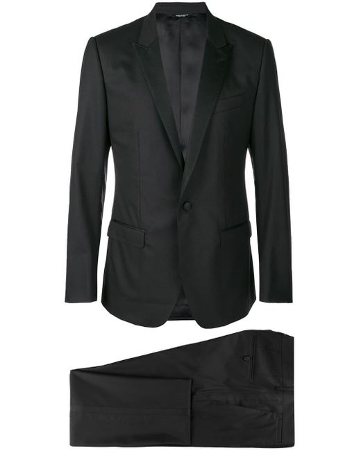 Dolce & Gabbana Black Three-piece Formal Suit for men