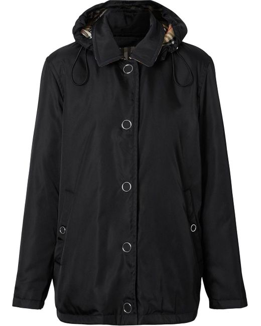 Burberry Black Detachable Hood Econyl® Jacket