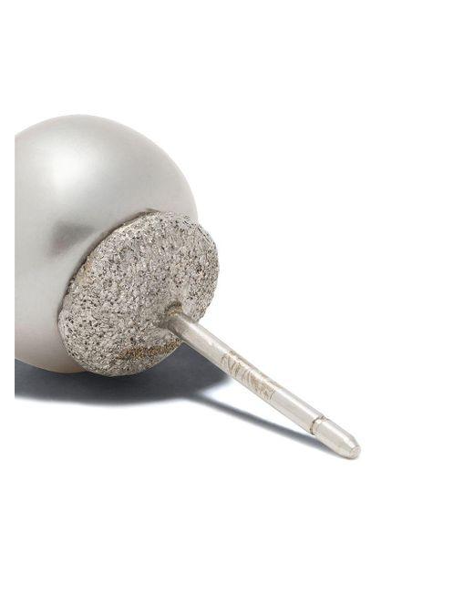 Единичная Серьга-гвоздик Superstellar Из Белого Золота С Бриллиантом Carolina Bucci, цвет: Metallic