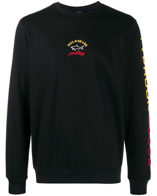 メンズ Paul & Shark ロゴ スウェットシャツ Black