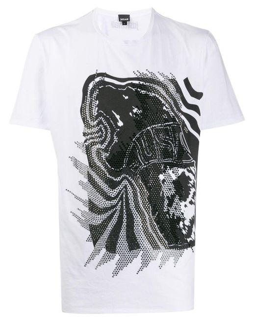 メンズ Just Cavalli プリント Tシャツ Multicolor