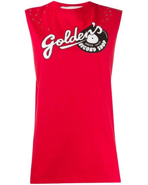 Golden Goose Deluxe Brand ロゴ タンクトップ Red