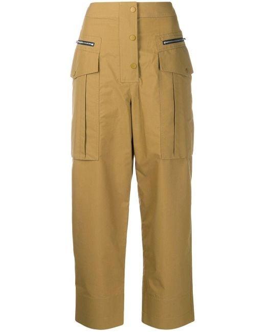 3.1 Phillip Lim Multicolor Cropped Cargo Trousers