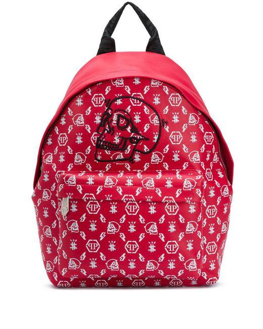 Рюкзак С Монограммой Philipp Plein для него, цвет: Red