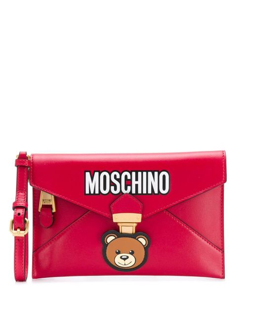 Moschino ロゴ クラッチバッグ Pink