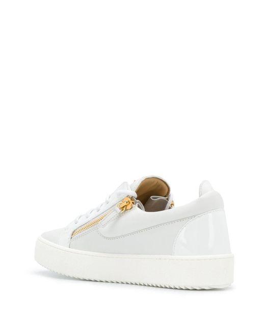 Baskets blanches Frankie Giuseppe Zanotti pour homme en coloris White