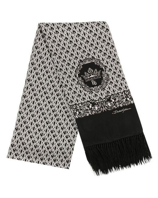 メンズ Dolce & Gabbana モノグラム スカーフ Black