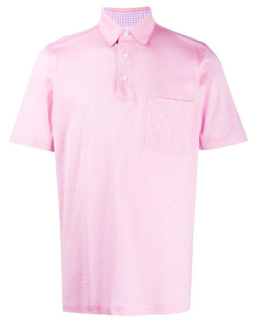 メンズ Brioni ピケ ポロシャツ Pink