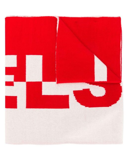 Belstaff ロゴ マフラー Red