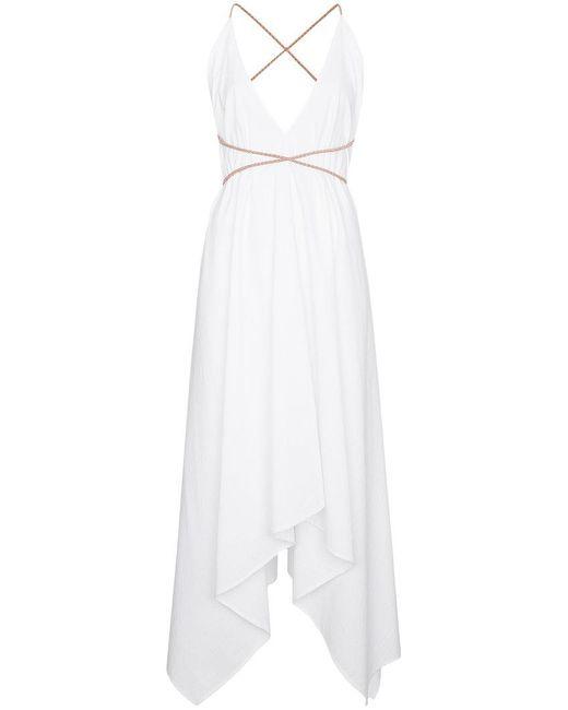 Caravana - White Yatzil Cotton Maxi Dress - Lyst