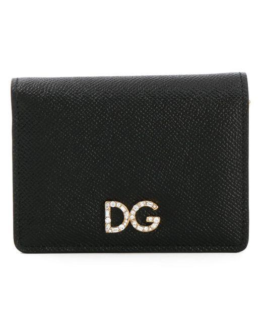 Кошелек С Декорированным Логотипом Dolce & Gabbana, цвет: Black