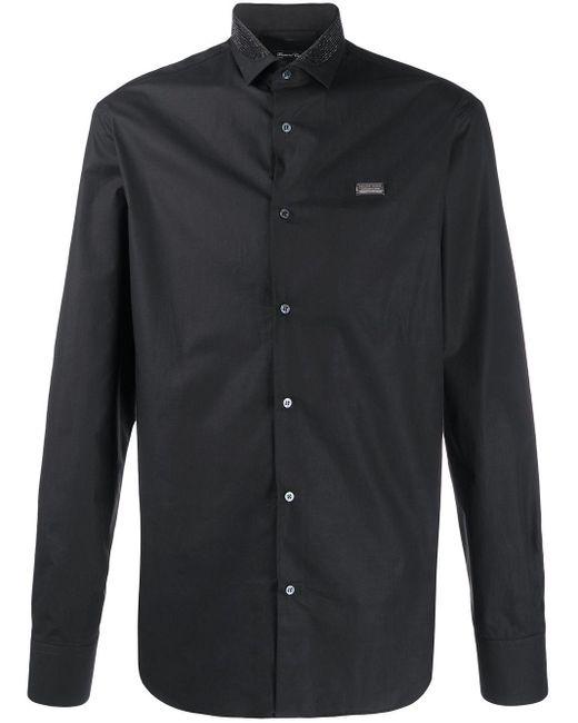 Рубашка С Длинными Рукавами И Логотипом Philipp Plein для него, цвет: Black