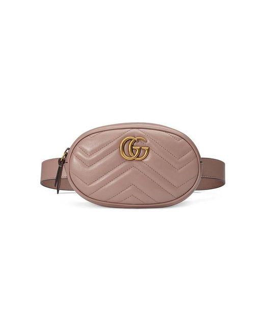 ecddadce7bf0 Gucci - Multicolor GG Marmont Matelassé Belt Bag - Lyst ...