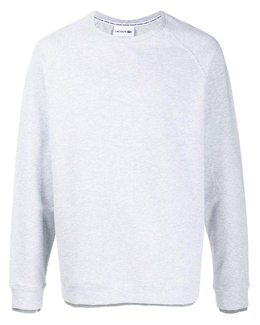 メンズ Lacoste クルーネック スウェットシャツ White