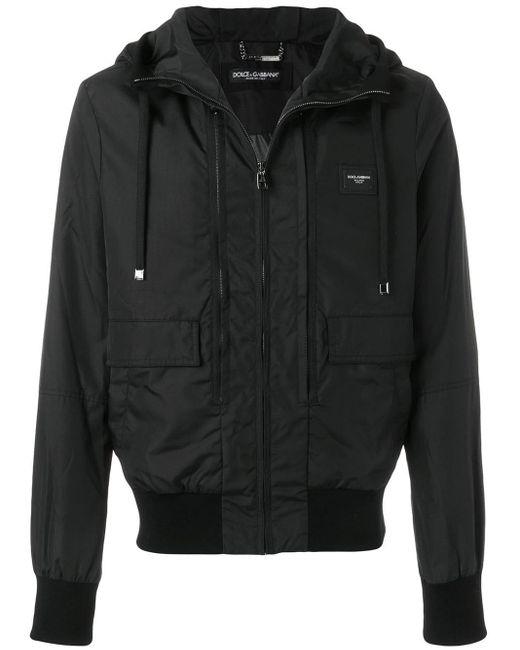 メンズ Dolce & Gabbana フーデッド ジャケット Black