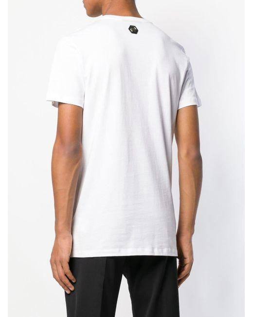 Футболка С Принтом Черепа С Логотипами Philipp Plein для него, цвет: White