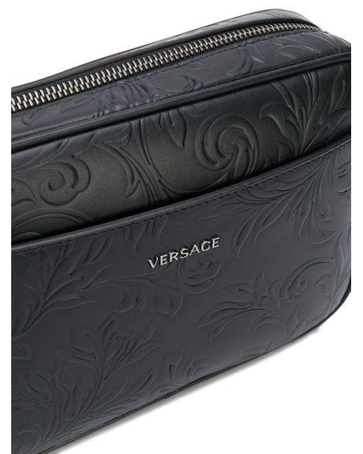 Поясная Сумка С Тиснением Barocco Versace для него, цвет: Black