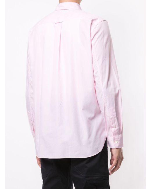 メンズ Junya Watanabe パッチワーク シャツ Pink