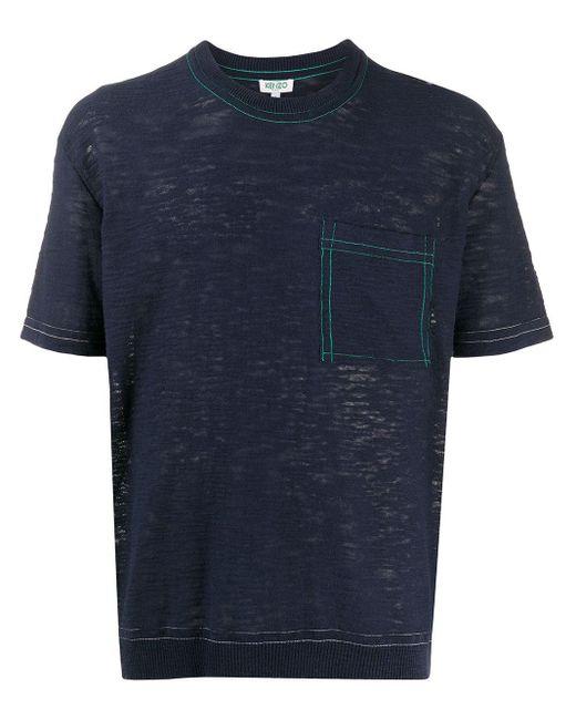 メンズ KENZO ポケット Tシャツ Blue
