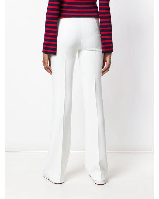 Flared trousers P.A.R.O.S.H. en coloris White