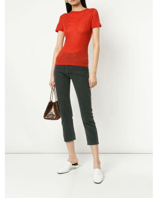 Pantalon crop slim Nanushka en coloris Black