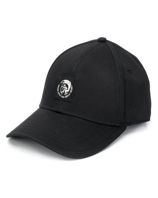 メンズ DIESEL Mohawk ロゴ キャップ Black
